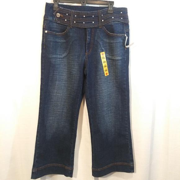Boom Boom Jeans Denim - Boom Boom Hi waist Wide Leg Capri Jeans. Sz 16